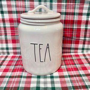 """New Rae Dunn """"TEA"""" Medium Canister"""